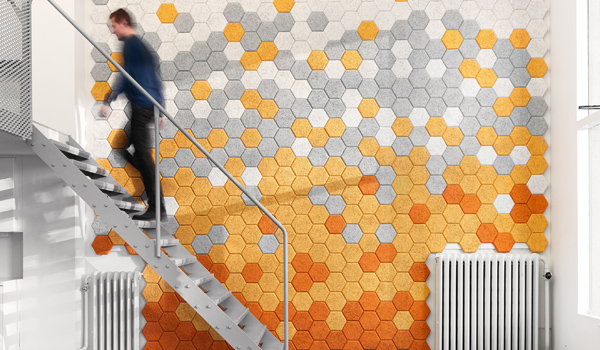 Eco-sound proofing / Hexagon by Traullit