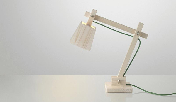 Low-tech meets modern / The wood lamp